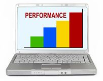 Performance graph laptop Stock Photos