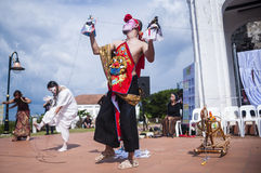 Performance at historical site Royalty Free Stock Photo