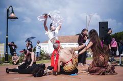 Performance at historical site Royalty Free Stock Photography