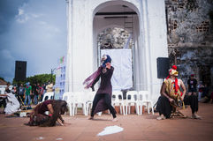 Performance at historical site Royalty Free Stock Photos