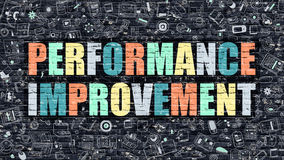 Performance Improvement in Multicolor. Doodle Design. Royalty Free Stock Photo