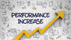 Performance Increase Drawn on Brick Wall. Stock Photography