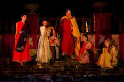 The performance of King Mithridates Stock Photography