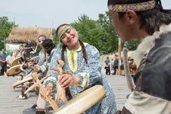 Performance of the KORITEV - Kamchatka National Youth Dance Ensemble Royalty Free Stock Photography