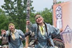 Performance of the KORITEV - Kamchatka National Youth Dance Ensemble Stock Images