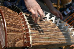 Performance on koto Stock Image