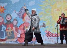 Performance of Kuban Cossacks on Shrovetide. Royalty Free Stock Image