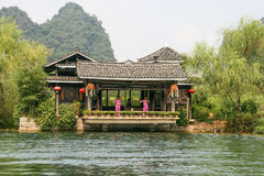 The performance in land of idyllic beauty of guilin scenic area Royalty Free Stock Photo