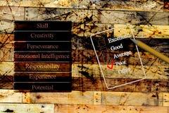 Performance level conceptual measure form Stock Image