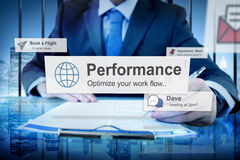 Performance Level Development Accomplishment Concept.  Stock Images