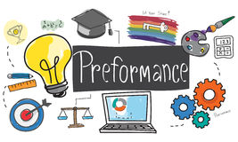 Performance Level improvement Efficiency Review Concept Royalty Free Stock Images