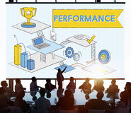 Performance Level improvement Efficiency Review Concept Stock Photo