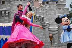Performance in magic kingdom. Performers are dancing in Dream Along with Mickey show in magic kingdom, disney world Orlando, Florida Stock Images