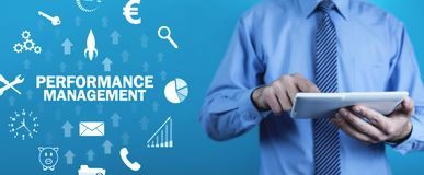 Performance Management. Business technology concept royalty free stock image