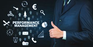 Performance Management. Business technology concept stock image