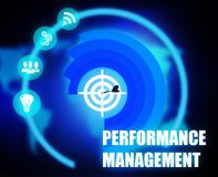 Performance Management concept plan graphic royalty free illustration