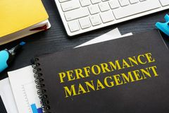 Performance management documents on a table. Performance management documents on an office table royalty free stock photos
