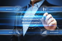Performance Management Efficiency Improvement Business Technology concept.  Royalty Free Stock Images
