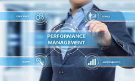 Performance Management Efficiency Improvement Business Technology concept.  royalty free stock photography