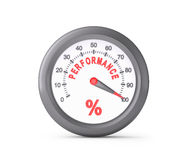 Performance Meter Indicate Maximum Stock Photos