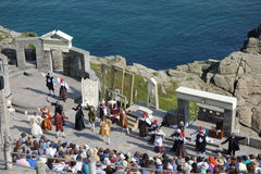 Performance at Minack Open-air Theatre, Cornwall. Royalty Free Stock Images