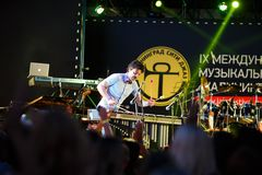 Performance of Mop Mop internationally jazz festival Stock Photos
