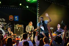 Performance of Mop Mop internationally jazz festival Royalty Free Stock Photography