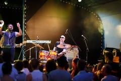 Performance of Mop Mop internationally jazz festival Stock Photo