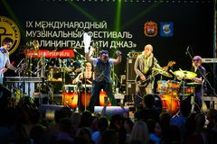 Performance of Mop Mop internationally jazz festival Stock Images
