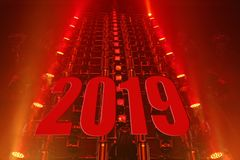 Performance moving lighting 2019 happy new year stock images