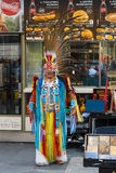 Performance of musicians in the clothes of American Indians Royalty Free Stock Photo
