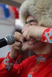 The performance of musicians and dancers Bashkir national ensemble Yandek (Bashkortostan) Stock Image