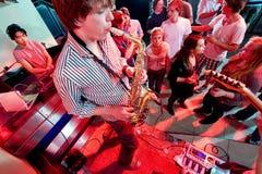 Performance in a nightclub Stock Photos