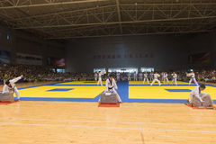 Performance-Opening ceremony--The Eighth GoldenTeam Cup Taekwondo friendly competition Stock Photography