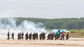 Performance paratroopers smoke alarm Royalty Free Stock Photo