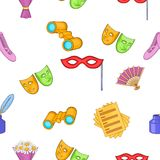 Performance pattern, cartoon style Royalty Free Stock Images
