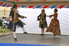 The performance of promoters and dancers of the ensemble of historical costume and dance Rameau's Nephews. Stock Photography