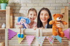 Performance in the puppet theater Royalty Free Stock Photos