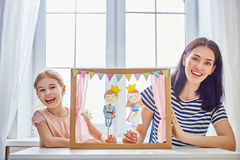 Performance in the puppet theater Stock Photo