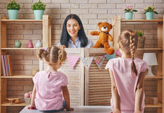 Performance in the puppet theater Stock Photography