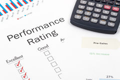 Performance rating Royalty Free Stock Photography