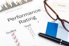 Performance Rating Form Royalty Free Stock Image