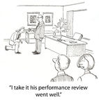 Performance review vector illustration