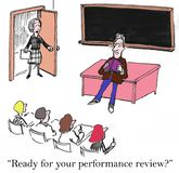 Performance review Royalty Free Stock Photos