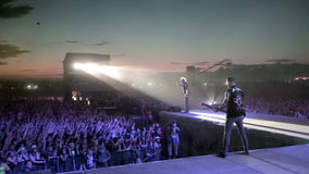 Performance of rock band TARAKANY on music concert stock video