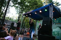 Performance of the rock group Chumatsky Shlyakh June 10, 2017 in Cherkassy, Ukraine.  stock photography