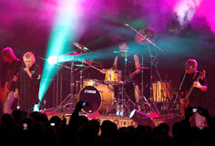 Performance of rock group Nazareth Royalty Free Stock Photo