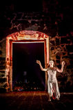 Performance in the ruin Stock Photography