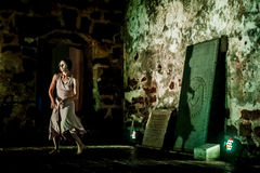 Performance in the ruin Royalty Free Stock Images