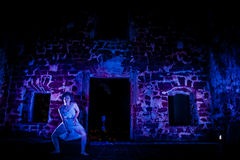Performance in the ruin Stock Photos